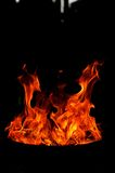 Feuerformen Stockfoto