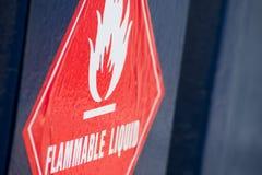 Feuergefährliche Flüssigkeit Lizenzfreie Stockfotos
