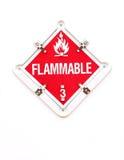 Feuergefährliches Warnzeichen stockfotografie
