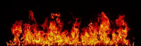 Feuergrenze auf Schwarzem Lizenzfreies Stockbild