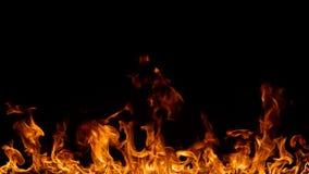 Feuergrenze auf Schwarzem Lizenzfreie Stockfotografie