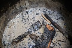 Feuergrube lizenzfreie stockfotos