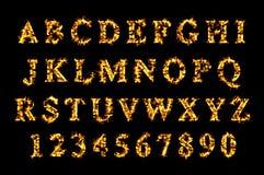 Feuerguß, Alphabet der Flamme Stockfotos