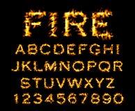 Feuergusssammlung, Alphabet der Flamme Stockfotos