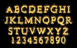 Feuergusssammlung, Alphabet der Flamme Lizenzfreie Stockfotografie