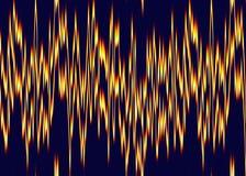 Feuerherzkardiogramm auf Bildschirm Lizenzfreies Stockfoto