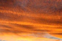 Feuerhimmel Stockfoto