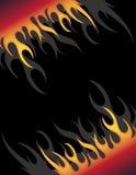 Feuerhintergrund Stockfoto