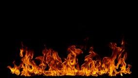 Feuerhintergrund auf Schwarzem Stockbilder