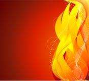Feuerhintergrundvektor Lizenzfreie Stockfotografie