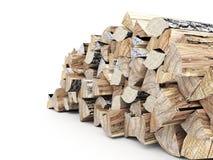 Feuerholz übertragen Lizenzfreies Stockfoto