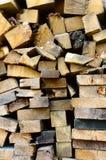 Feuerholz Stockbild