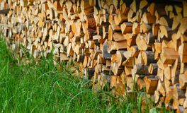 Feuerholz Stockfotos