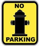 Feuerhydrant - kein Parken Stockfotografie