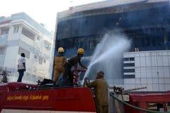 Feuerintervention Stockbild