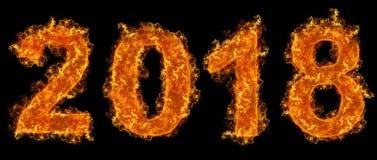 Feuerjahr von 2018 Lizenzfreies Stockbild