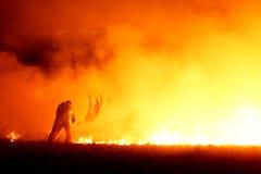 Feuerkämpfer Stockbild