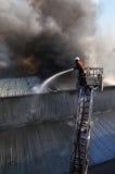 Feuerkämpfer Stockfoto