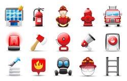 Feuerkämpfer Ikone Stockfotos