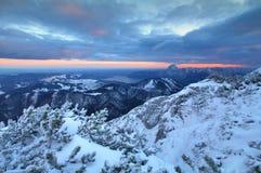 Feuerkogel nella vista delle alpi Immagini Stock Libere da Diritti