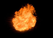 Feuerkugel lizenzfreie stockfotografie