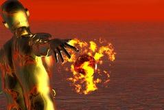 Feuerkugel Stockbild