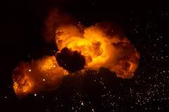 Feuerkugel: Explosion, Detonation lizenzfreies stockbild