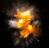 Feuerkugel: Explosion, Detonation lizenzfreie stockfotografie