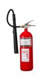 Feuerlöscher der trockenen Chemikalie auf weißem Hintergrund lizenzfreie stockfotografie