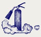 Feuerlöscher und Schaumgummi lizenzfreie abbildung