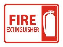 Feuerlöscher-Zeichen-Isolat auf weißem Hintergrund, Vektor-Illustration ENV 10 stock abbildung