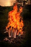 Feuerlandschaft Lizenzfreies Stockfoto