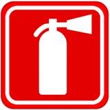 Feuerlöscherzeichen Lizenzfreies Stockfoto