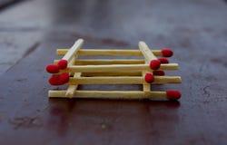 Feuermatch Stockfotografie