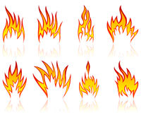Feuermuster eingestellt Lizenzfreie Stockbilder