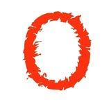 Feuern Sie den Buchstaben ab O, der auf weißem Hintergrund mit Beschneidungspfad lokalisiert wird Lizenzfreies Stockfoto
