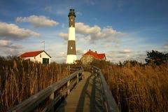 Feuern Sie Insel-Leuchtturm ab Lizenzfreies Stockfoto