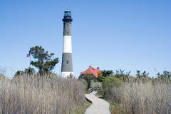 Feuern Sie Insel-Leuchtturm ab stockfotografie