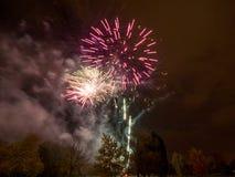 Feuernacht Stockfotografie