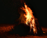 Feuernachtwinter Stockfotografie