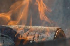 Feuernahaufnahme stockbild