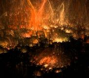 Feuerregen, abstrakter Fractalhintergrund Stockfotografie