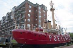 Feuerschiff Portsmouth LV-101, VA, USA Vereinigter Staaten lizenzfreie stockfotos