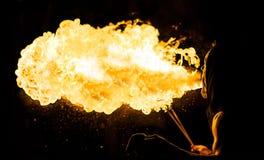 Feuerschlucker von hinten Lizenzfreies Stockbild