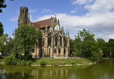 Feuersee and Johannes church , Stuttgart Stock Image