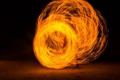 Feuershow Stockbilder