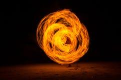 Feuershow Lizenzfreie Stockfotos