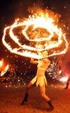 Feuershow Stockbild