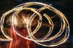 Feuershow 25 Lizenzfreies Stockbild