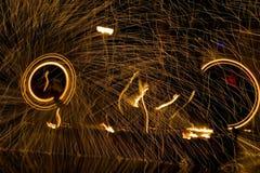 Feuershow 7 Stockfoto